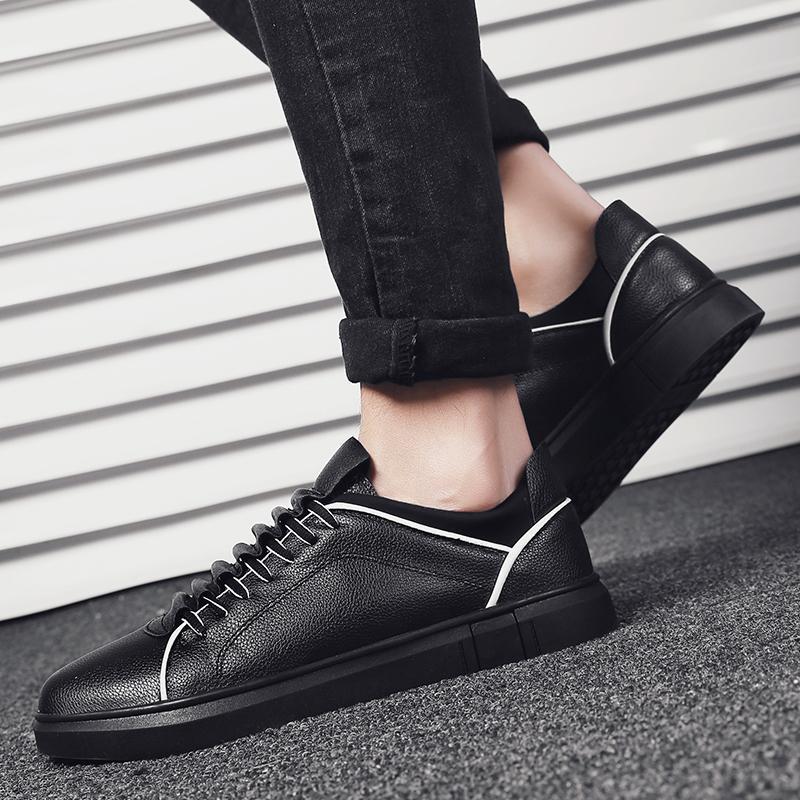 2cdc627af5c Compre Moda Hombre Zapatos De Cuero Planos Ocasionales Respirables Ligeros  Mocasines Gentleman Zapatillas De Deporte De Lujo Con Cordones Zapatos De  ...