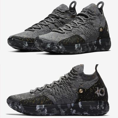 Top quality KD 11 Casual Shoes Gold Splatter Kevin Durant 11s Designer Multi-Color/Metallic Gold Men shoes size 7-12