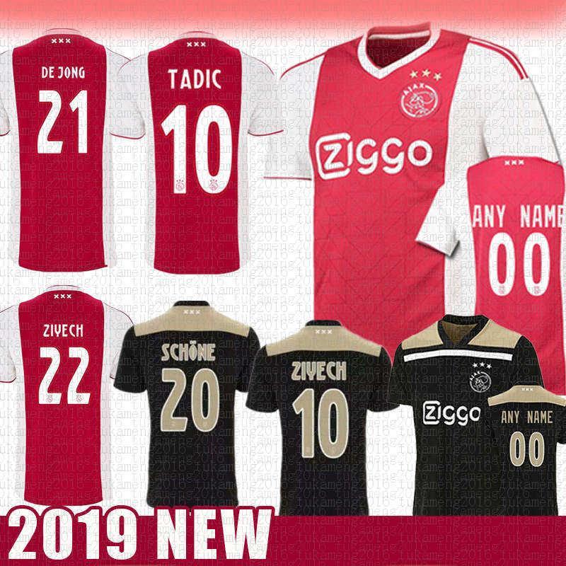 285ca2c6c 2019 Ajax FC Soccer Jersey 10 TADIC 21 DE JONG 22 ZIYECH NERES DE ...