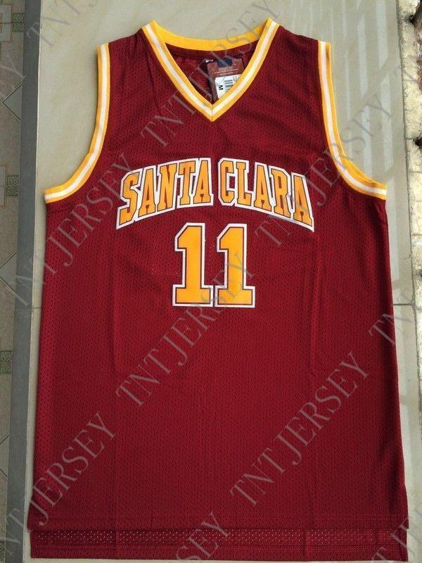 cheaper 47fdd 81d00 Cheap custom Steve Nash #11 Santa Clara Men Basketball Swingman Jersey Red  Stitched Customize any name number MEN WOMEN YOUTH JERSEY XS-5XL