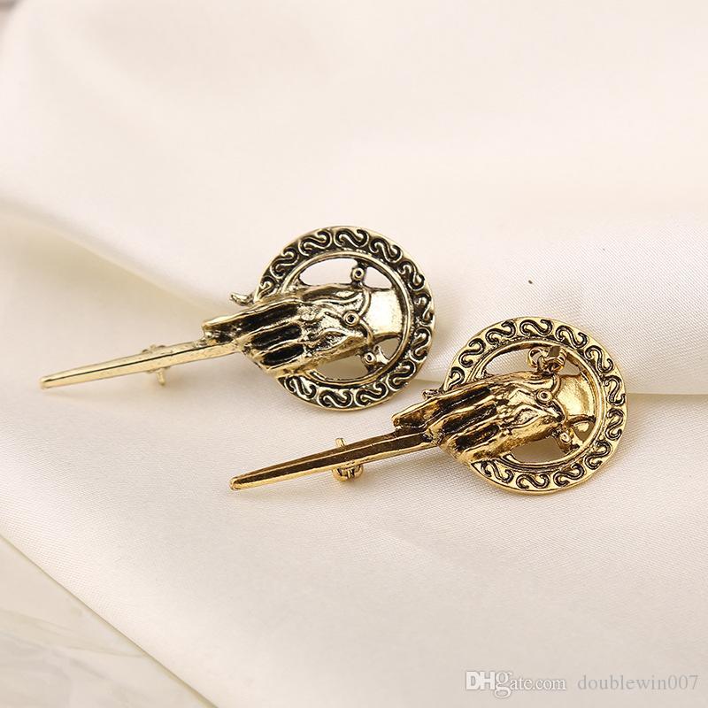 Fashion vintage men's Brooch Song of Ice and Fire Game of Thrones Hand Of The King Pin persionality brooches for movie fan