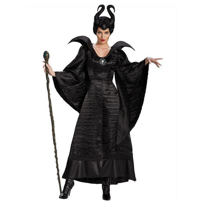 Devil Witch Robe Queen Costumes Adult Women Halloween Costume Party Cosplay Fancy Dress Stage Performance Costume Carnival Cosplay Party