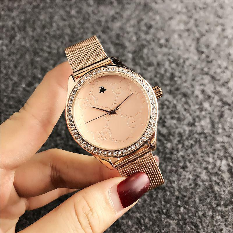 f2b0ab3e7a2 Compre Relógios De Luxo Das Mulheres Da Marca Para A Mulher De Alta  Qualidade De Quartzo De Couro Relógios Das Senhoras Genebra Moda Vestido  Relógios ...