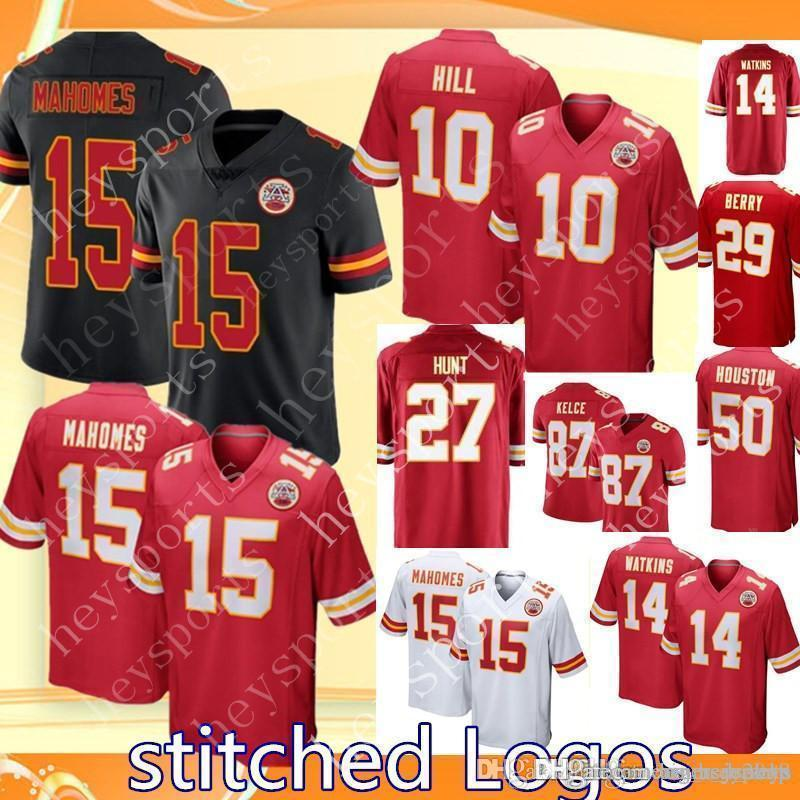 2019 Kansas City 15 Patrick Mahomes Chiefs Jersey 27 Kareem Hunt 10 Tyreek  Hill 87 Travis Kelce 14 Sammy Watkins 29 Berry Jerseys From Big red shop 29e2e521b