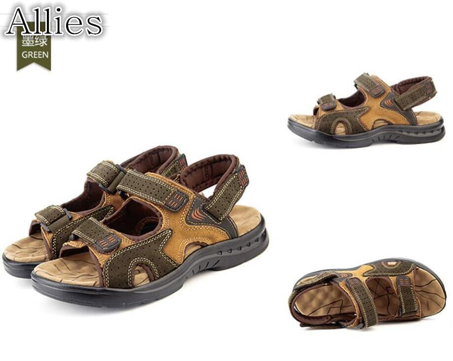 c8949fe77 Allies 2019 Camel Brand New Men's Sandals Summer Men's Leather Open Toe  Men's Casual Leather Sandals Outdoor Sandals Online with $57.12/Pair on  Baby107's ...
