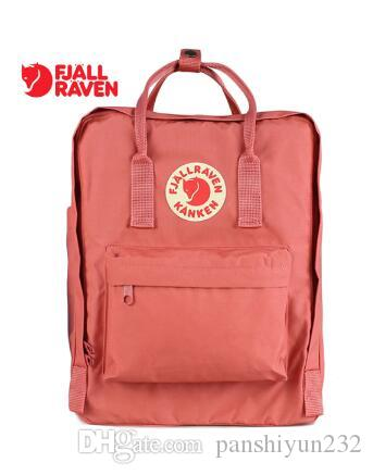 Christmas Gift Fjallraven Kanken Classic Sweden Kids Houth Fashion Color Bags Retro Backpack Classic Bag Pink Outlet Sale