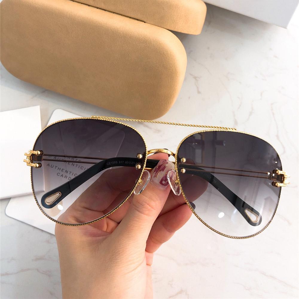 2019 Vintage Oval Sunglasses Famous Women Brand Oversized Gradient Eyewear  100% UV Protection Designer Pilot Sunglasses With Retail Box Running  Sunglasses ... fad55bf065d8