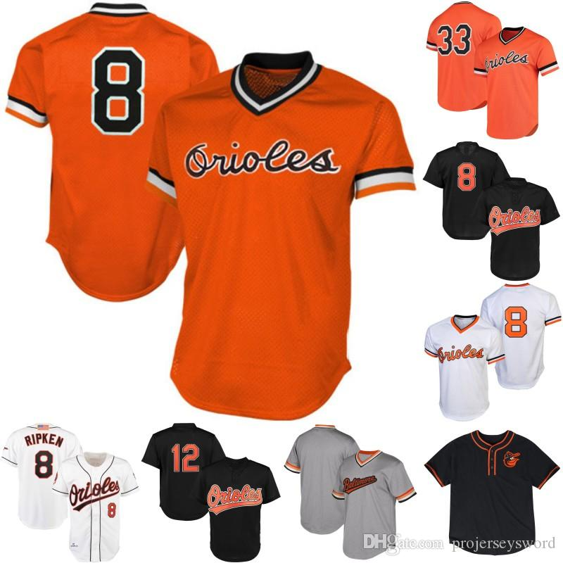 eb7e68d25 2019 Mens Baltimore 8 Cal Ripken Jr 12 Roberto Alomar 33 Eddie Murray Cooperstown  Collection Orioles Baseball Jerseys S XXXL From Projerseysword