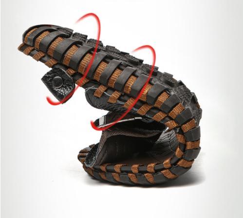 dd6514eebf3f1 BIG SIZE Men Slippers Genuine Leather Flip Flops for Men Top AAA+ ...
