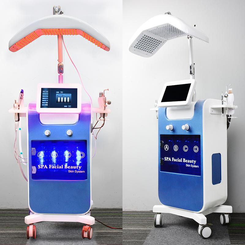 2019 hydrafacial Wasser Mikrodermabrasion Haut Tiefenreinigung hydra Gesichts-Maschine Sauerstoff Mesotherapie Pistole RF Lift Hautverjüngung hydro