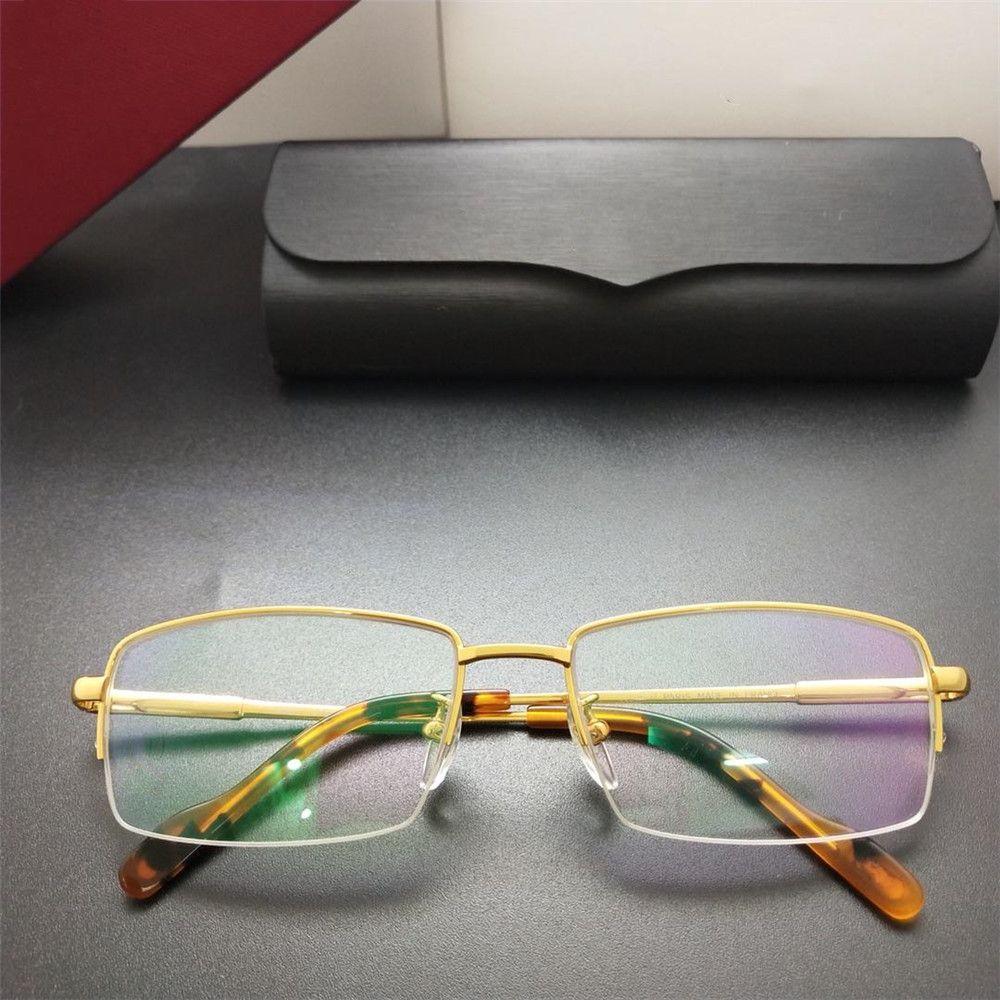 4f9558c2302a 2019 Luxury Glasses Famous Designer Men Rectangle Eyewear for ...