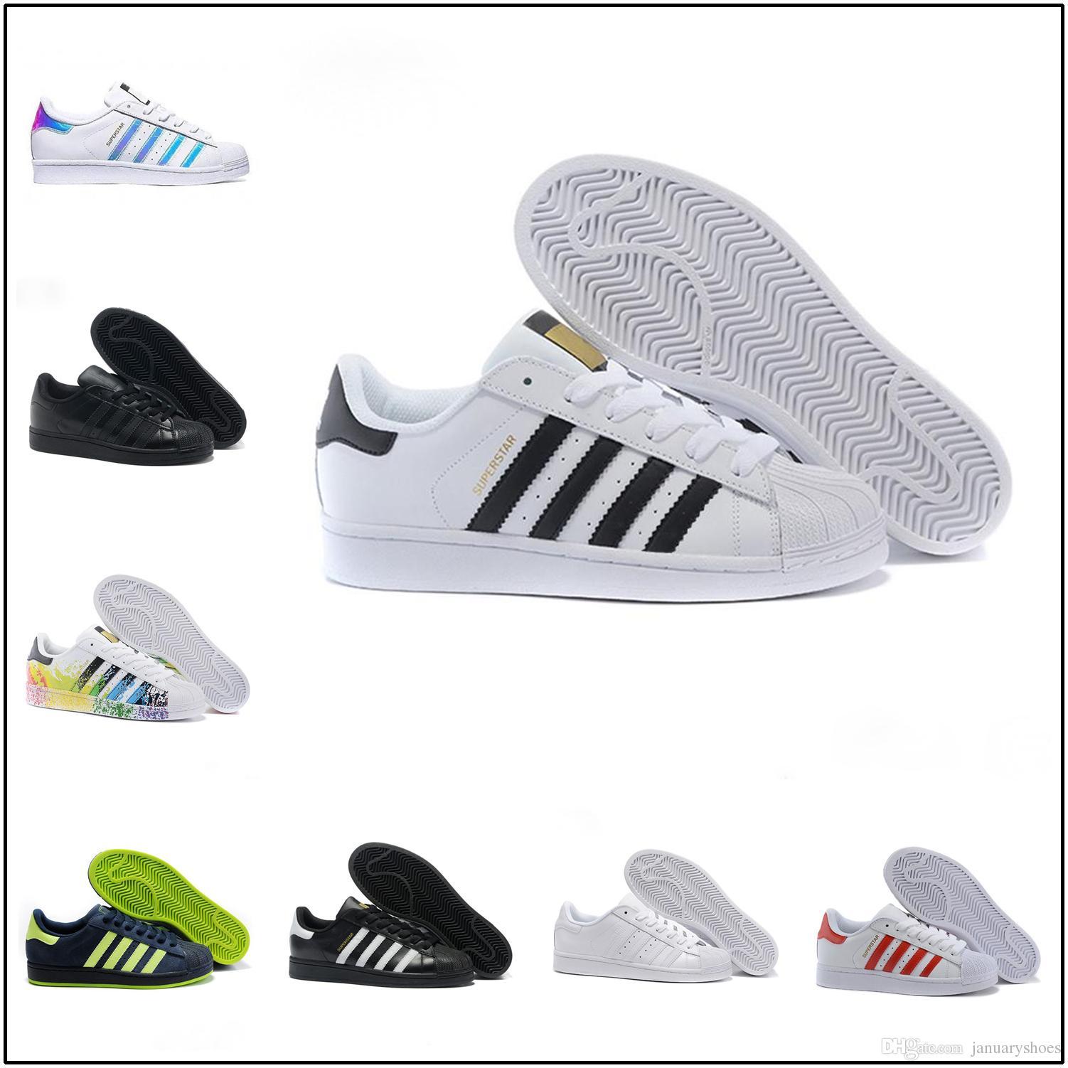 Adidas Superstar Super star 2019 Diseñadores VENDIDOS de moda Zapatillas de running para hombre Superstar Mujer Zapatos planos Mujer Hombre Super
