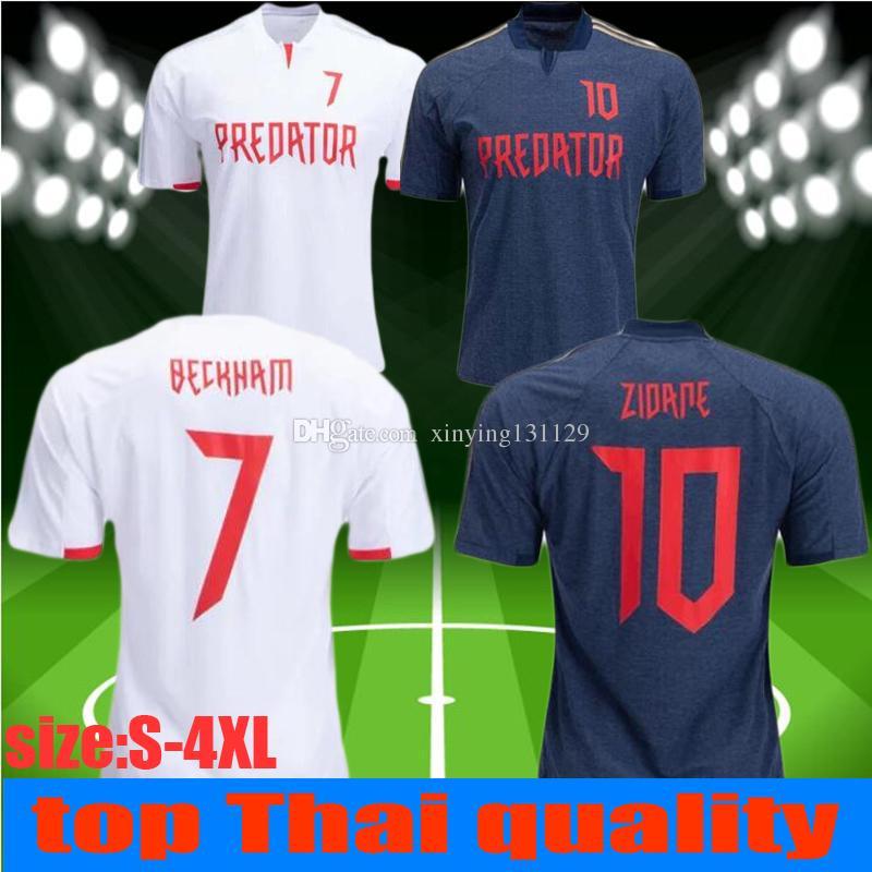 7b2a42f2b 2019 Size S 4XL 2019 Predator David Beckham 7 Jersey ZIDANE 10 Jerseys Home Soccer  Jersey Retro Version Commemorative Edition Football Shirts From ...