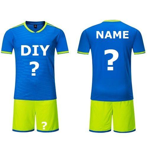 Customize New Football Jerseys Black Shorts Men Soccer Jerseys Set Can Customize  Football Club Uniforms Kit Shirt DK2021Z Diy Football Jerseys Custom Made  ... 944cb6b95