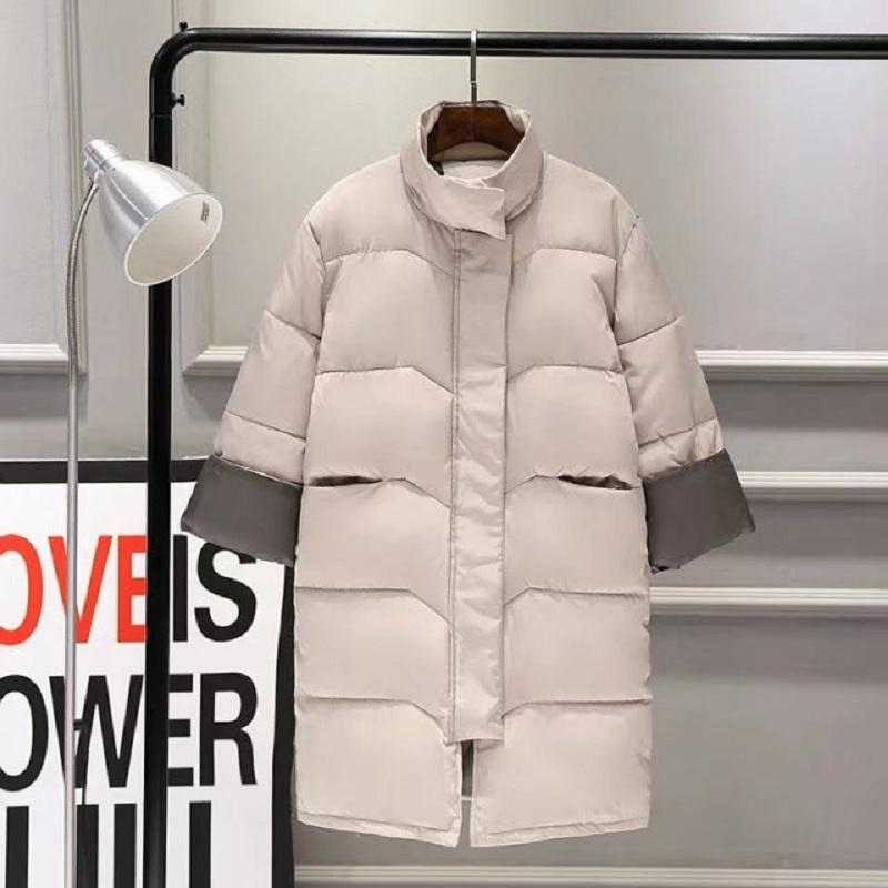 #9113 Casual Winter Jacket Women Coat 2019 Warm Parka Female Plus Big Size Long Jacket Quilted Coat With Long-sleeve Clothing