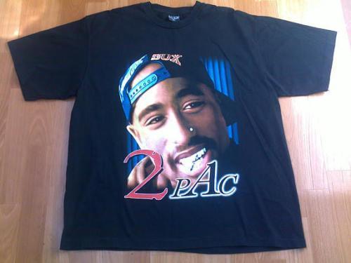 2pac T Shirt Vintage Makaveli Tupac 2 Sided Shirt Black 90s Hip