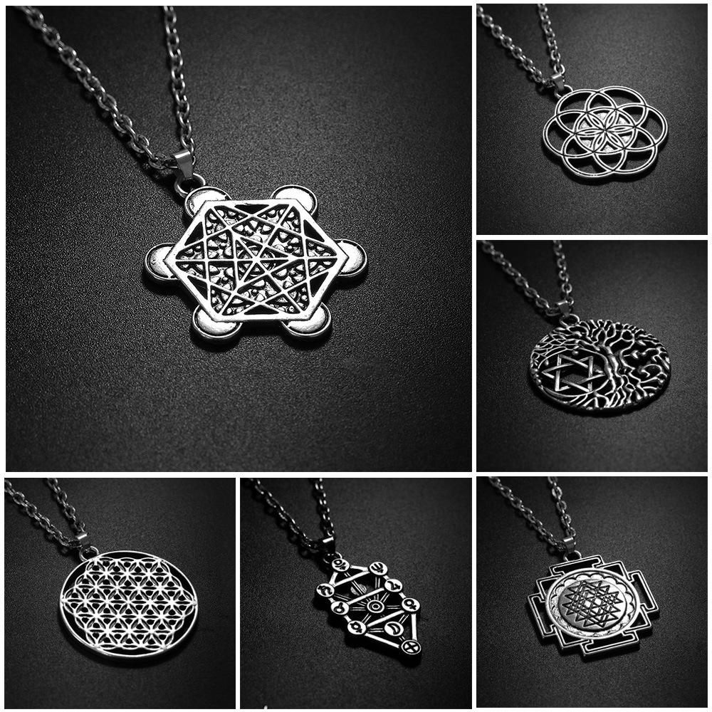 Tree of Life Necklaces Fruit of life Fashion Big Statement Necklace for Women Jewellery Stainless Steel Necklace