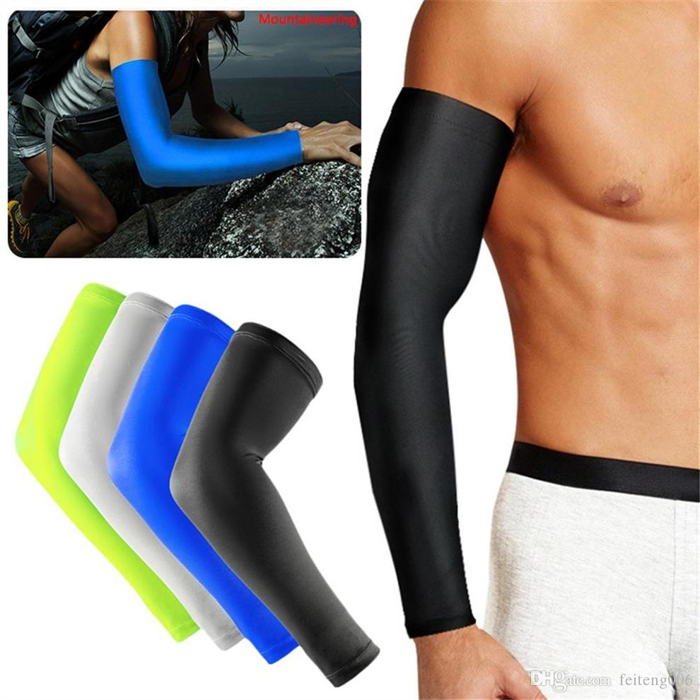 Men's Accessories Lengthen Armguards Sunscreen Protective Forearm Elbow Pad Arm Sleeve Arm Warmers Breathable Stretchy
