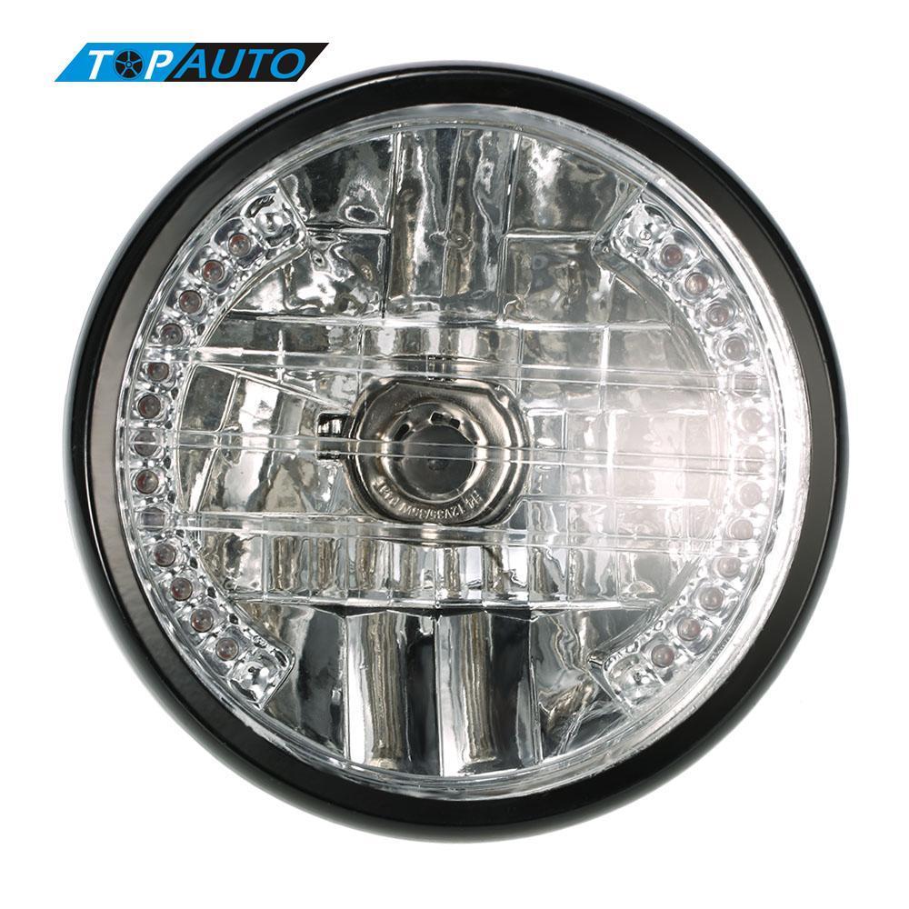 Freeshipping Motorcycle LED Headlight 35W withTurn Signal Indicators Blue Light Universal Motorbike Fog Spot Head Bulb Light Lamp Headlight