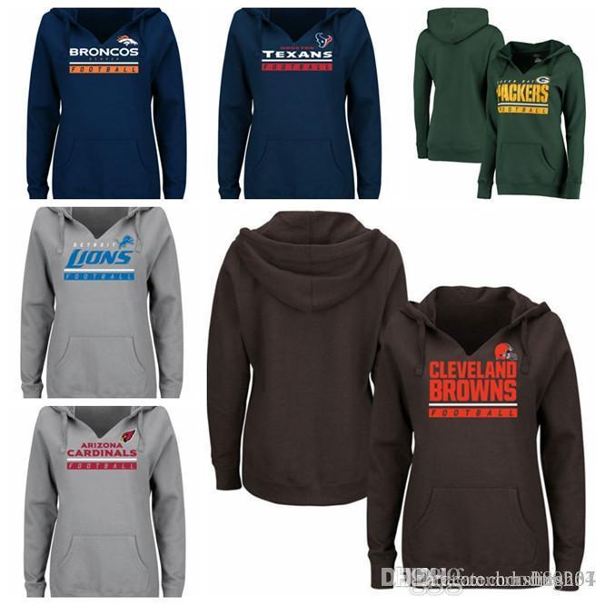 1adf8054fc2 2019 Houston Texans Green Bay Packers Detroit Lions Denver Broncos  Cleveland Browns Cardinals Majestic Women S Self Determination Pullover H  From Hxxy88