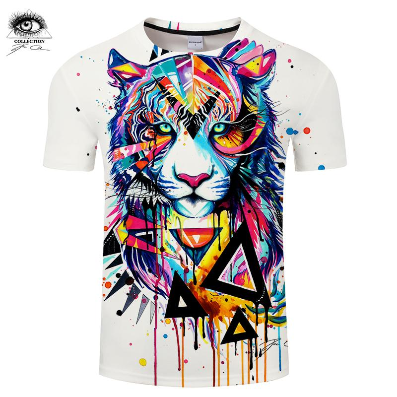 0fe33dd3db8e Shattered Tiger By Pixie Cold Art T Shirts Men Tshirt 2018 Summer O Neck  Short Sleeve Tees Tops Drop Ship ZOOTOP BEAR Tees Shirts Cheap Design And  Buy T ...