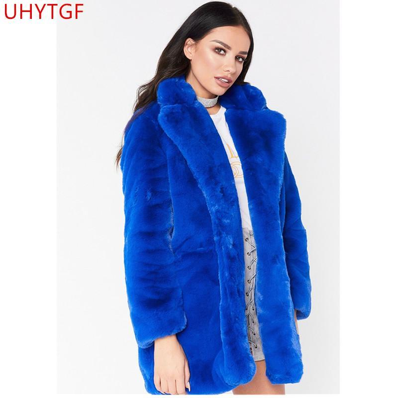 85138622426 New Elegant pink fluffy women's jacket, faux fur street autumn winter warm plush  Teddy coat large size jacket evening wear 570