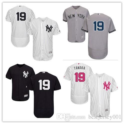 premium selection 9961b 5bc8a can custom 2019 New York Yankee Jerseys #19 Masahiro Tanaka Jerseys  men#WOMEN#YOUTH#Men's Baseball Jersey Majestic sport wear free ship