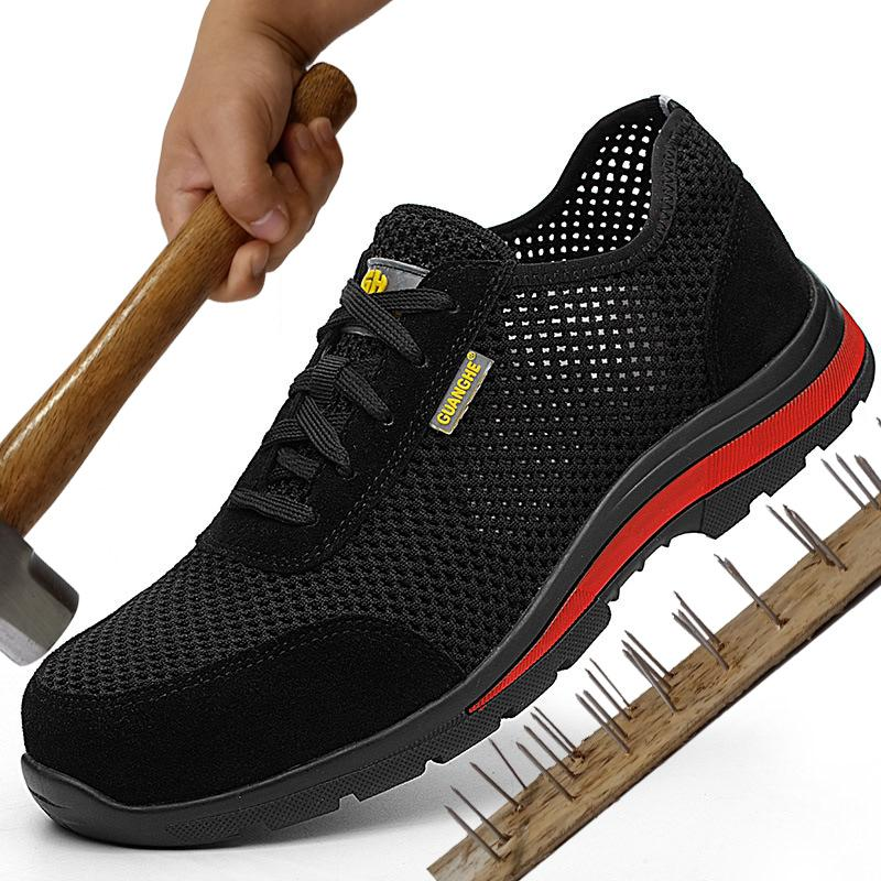 premium selection fc157 a581d Unzerstörbare Sicherheitsschuhe für Herren Lightweight Steel Toe Cap Schuhe  Arbeiten für Männer Krasovka erkek Sneaker Man Casual Boots