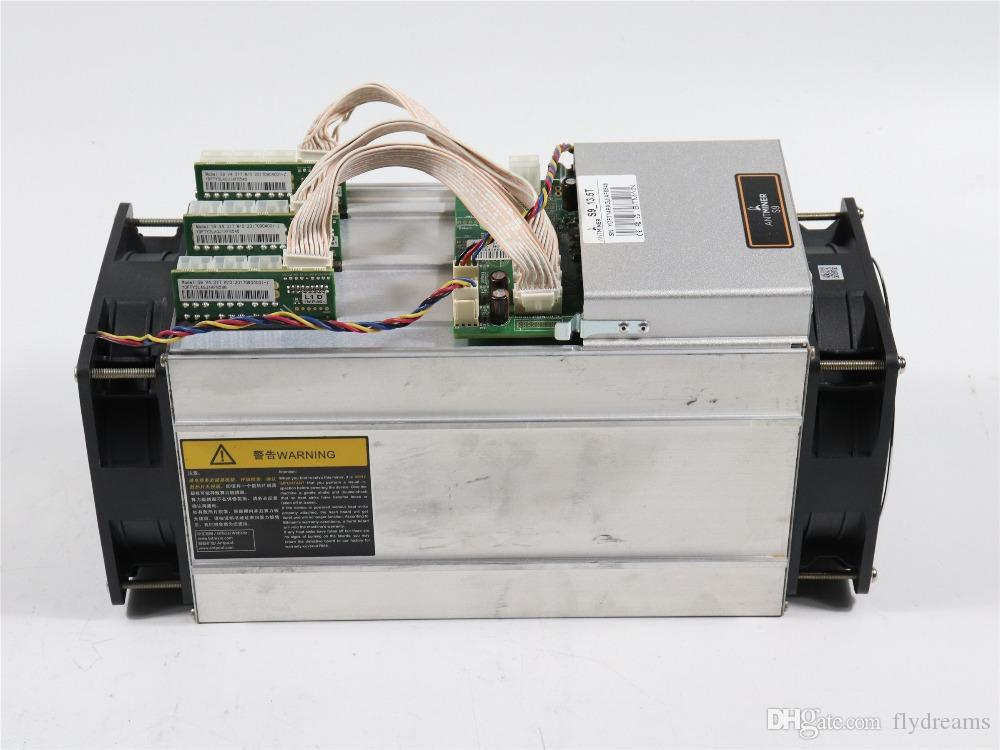 Used AntMiner S9 13 5T Bitcoin Miner Asic Miner 16nm Btc BCH Miner Bitcoin  Mining Machine Better Than Whatsminer M3