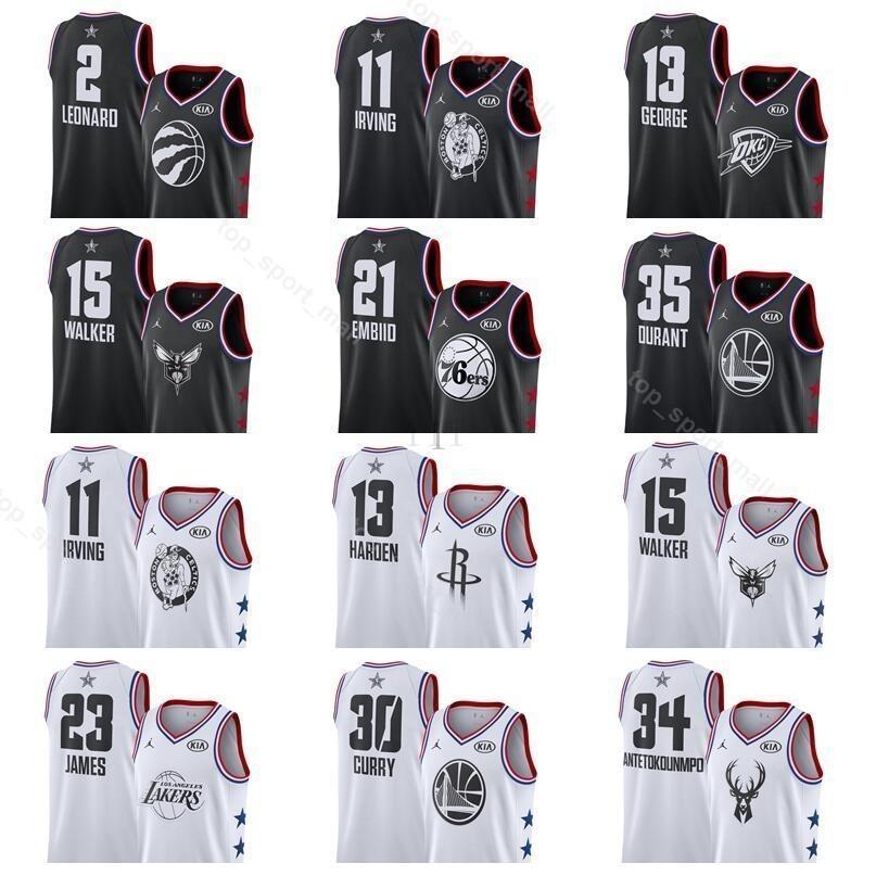designer fashion a1e28 cbb43 Printed All 2019 Star Basketball Jersey Kyle Lowry 7 Ben Simmons 25 Blake  Victor Griffin Nikola Oladipo Vucevic Khris Bradley Middleton Beal
