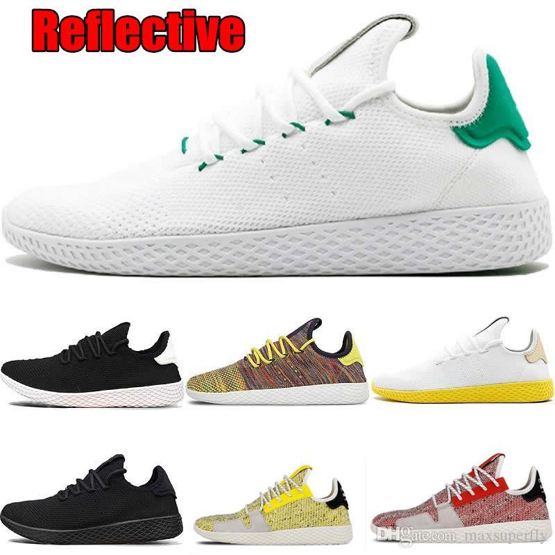 75bbfe355fb6a 2019 3M Reflective PW Pharrell Williams X Stan Smith Solar Tennis Hu  Primeknit Upper Men Women Breathable Jogging Running Shoes EUR 36 45  Sneakers Sale ...