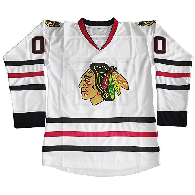 huge selection of e5370 80fe8 Clark Griswold Blackhawks Jersey Clark Griswold 00 National Lampoons  Vacation Movie Costume Hockey Jerseys Chicago Blackhawks Christmas Gift