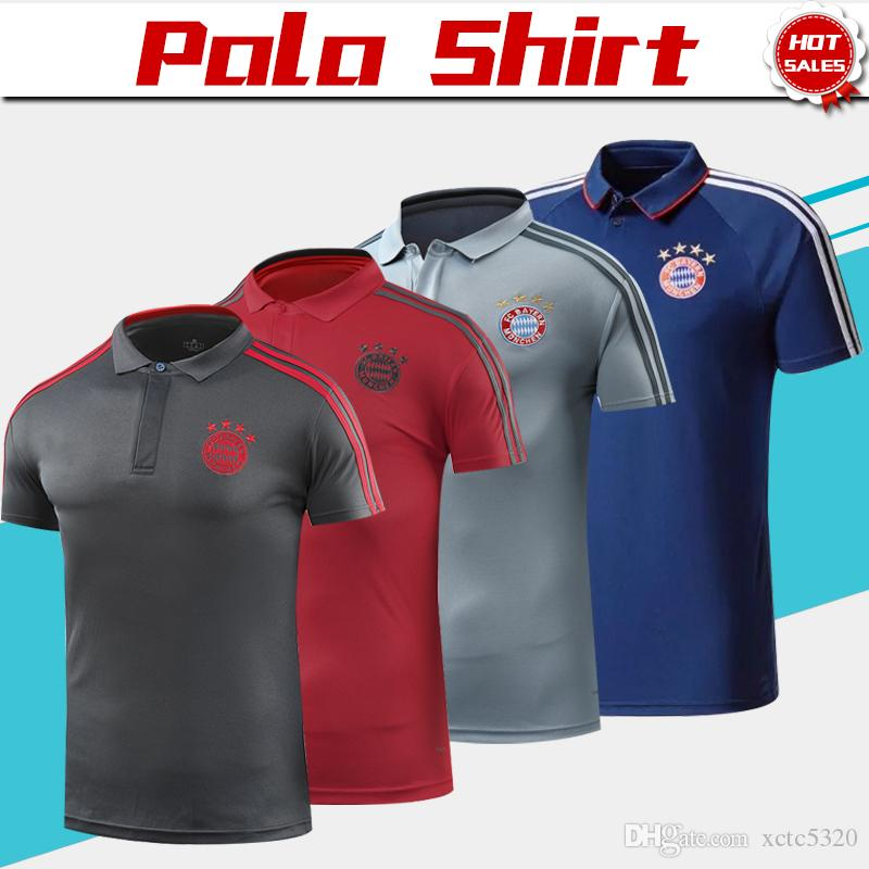 e7c0e13ff6efe 2019 Bayern Munich Polo Red Soccer Jersey 18 19 Bayern Blue Soccer Polo  Uniformes De Fútbol Gris Camiseta Deportiva Ventas Por Xctc5320