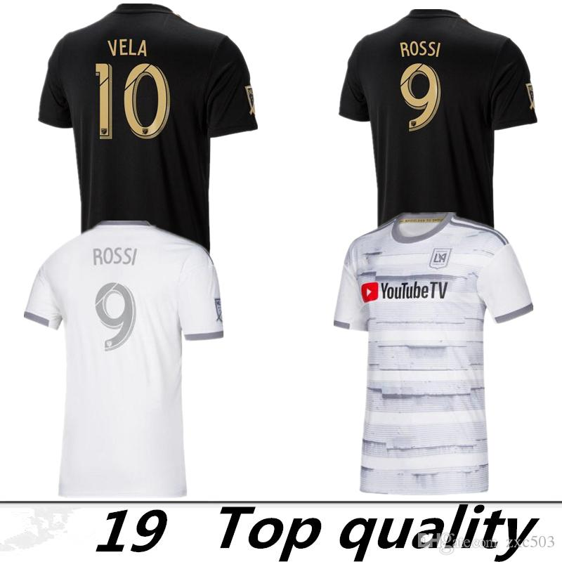 4a882cd50 2019 2019 2020 Los Angeles FC Soccer Jerseys GABER ROSSI 10 VELA CIMAN  ZIMMERMAN Custom Black White LAFC Adult 2019 Football Shirts From Zxc503