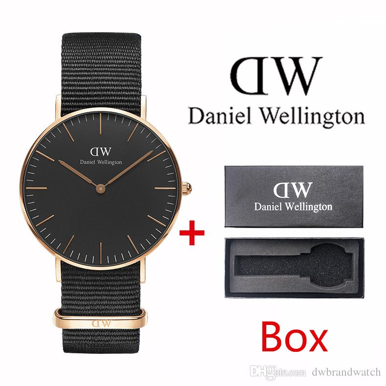 cd166ed2a60 2019 AAA Luxury Fashion Nylon Strap Men 40mm Ladies 36mm Brand Quartz  Waterproof Couple Watch Gift Stainless Steel Watch Online with $21.56/Piece  on ...
