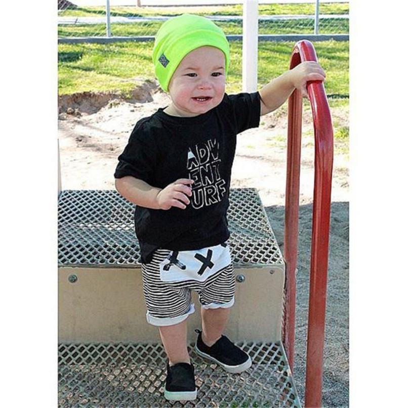 Summer Boys Shorts Kids Baby Boys Striped Print Harem Pants Bloomers Baby Shorts Suit For 2-6T Baby M8Y09