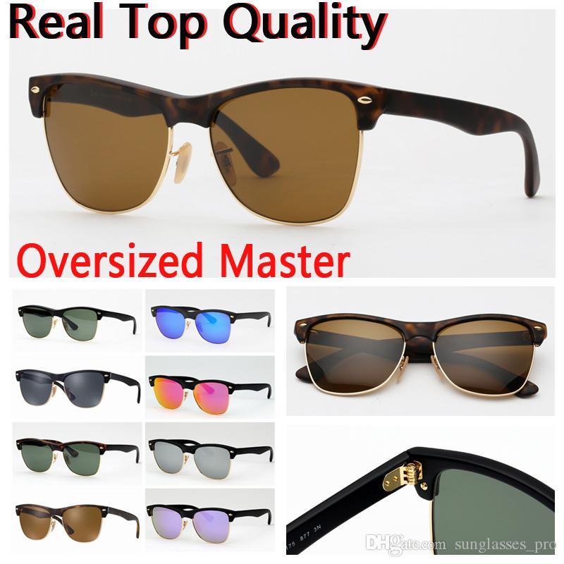 48d78076c8 Mens Sunglasses Women Big Face Design UV400 Glass Lenses Des Lunettes De  Soleil Free Leather Case