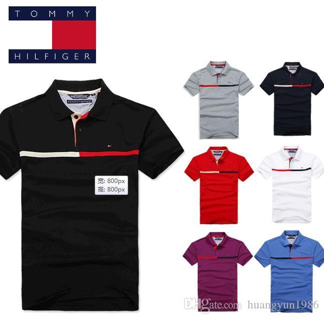 Original Mesh Cotton 2019 Summer Large Size Mens Short Sleeve Polo Shirt Mens Shirt Shirt Embroidery Logo Polo Shirt Easy To Use Tops & Tees