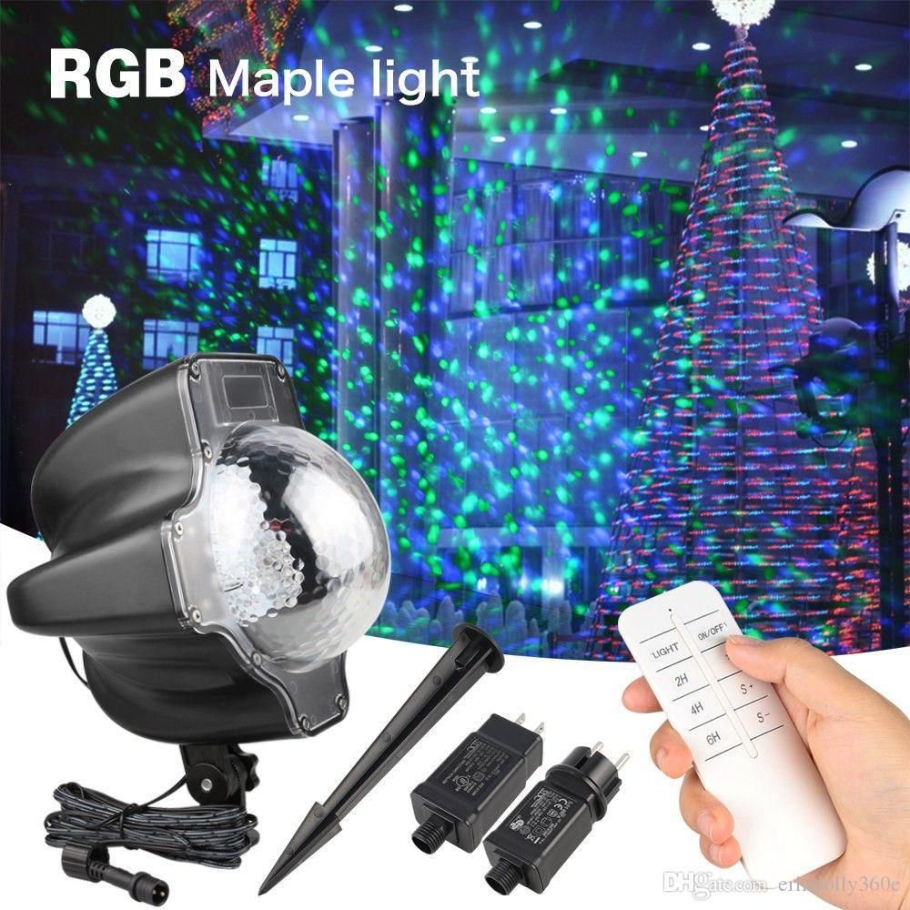 d55b59e9955 Compre RGB Luces Nevadas De Navidad Proyector LED Luces Efecto De Hoja De  Arce Luz De Escenario Proyector Láser Luz Impermeable Disco Fiesta De  Evento A ...