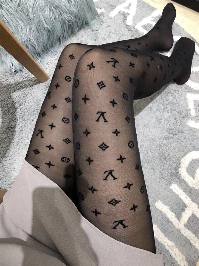 90dcc3a2251 Luxury Casual Print Folwer Stockings Women Long Hosiery Socks Fashion Ladies  Black Stockings France Designer Stocking With Box Support Socks Christmas  Socks ...