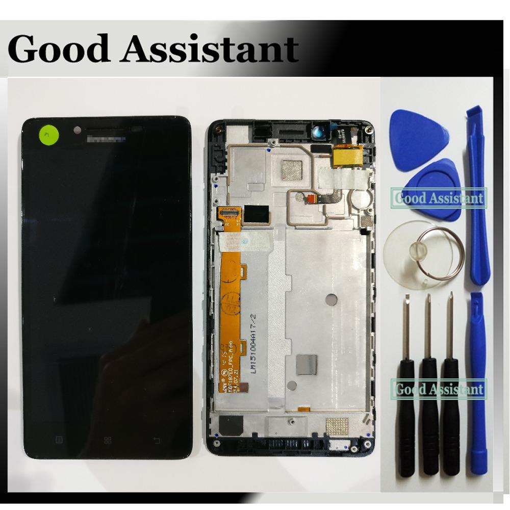 Black 5 0 inch For Lenovo A6000 K3 Lemon K30-T K30-W K30 LCD Display Touch  Screen Digitizer Assembly With Frame Free Tools