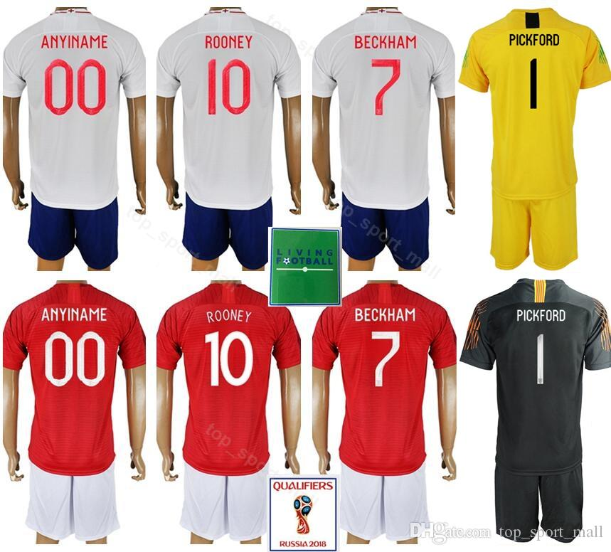 45075a23a Soccer 2018 World Cup 4 Steven Gerrard Jersey Set Men 8 Frank Lampard 10  Wayne Rooney Football Shirt Kits National Home White UK 2019 From  Top sport mall