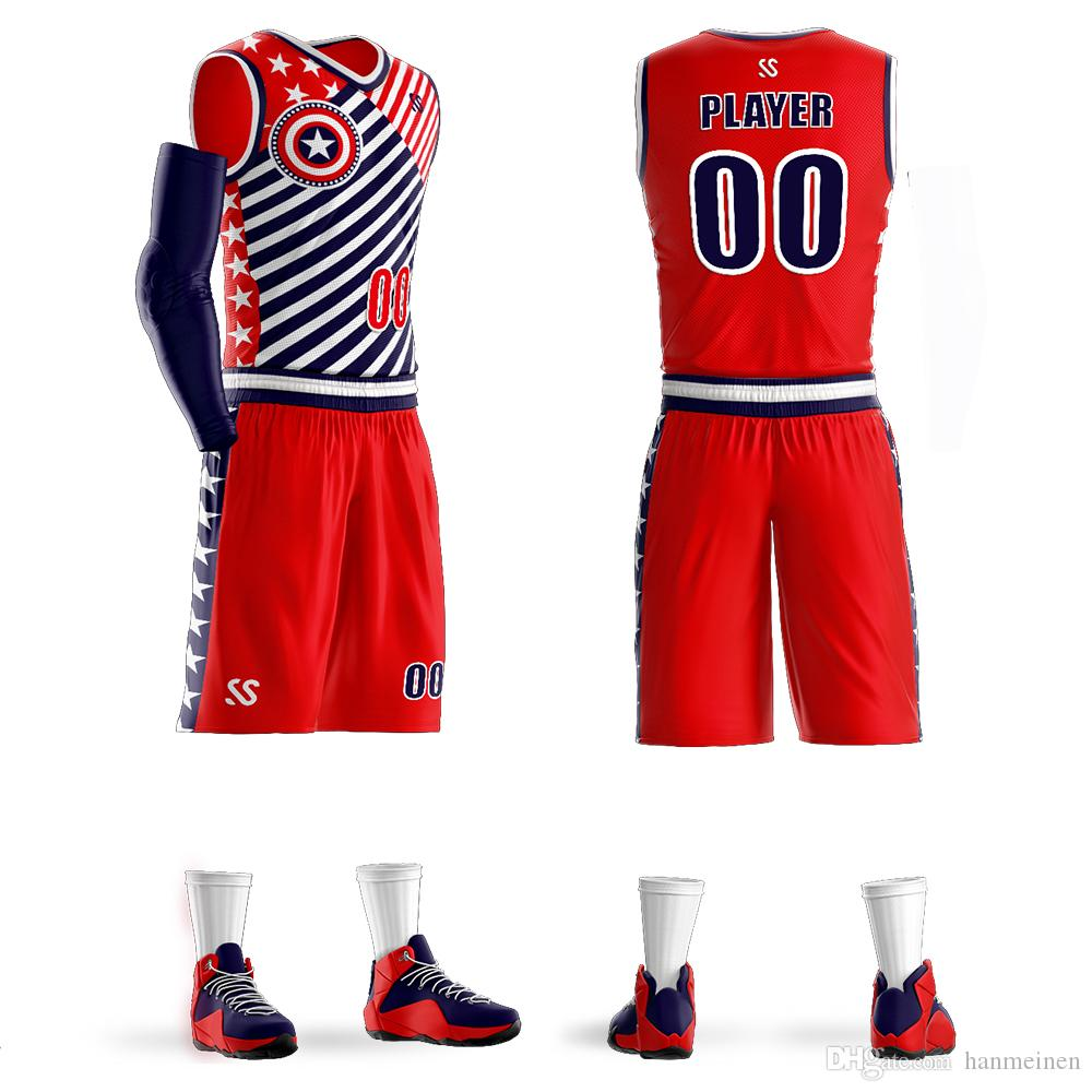 14e82873340 2019 Wholesale Custom Men Youth Basketball Jerseys Sets Free Print Number  Youth Jerseys And Adult Jerseys Custom Make Size 6XL From Hanmeinen