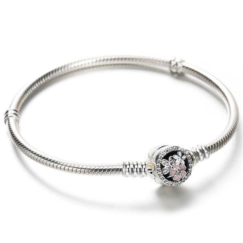 Bloom Flower Enamel Clasp For Pandora Jewelry Bracelet Hot Fashion