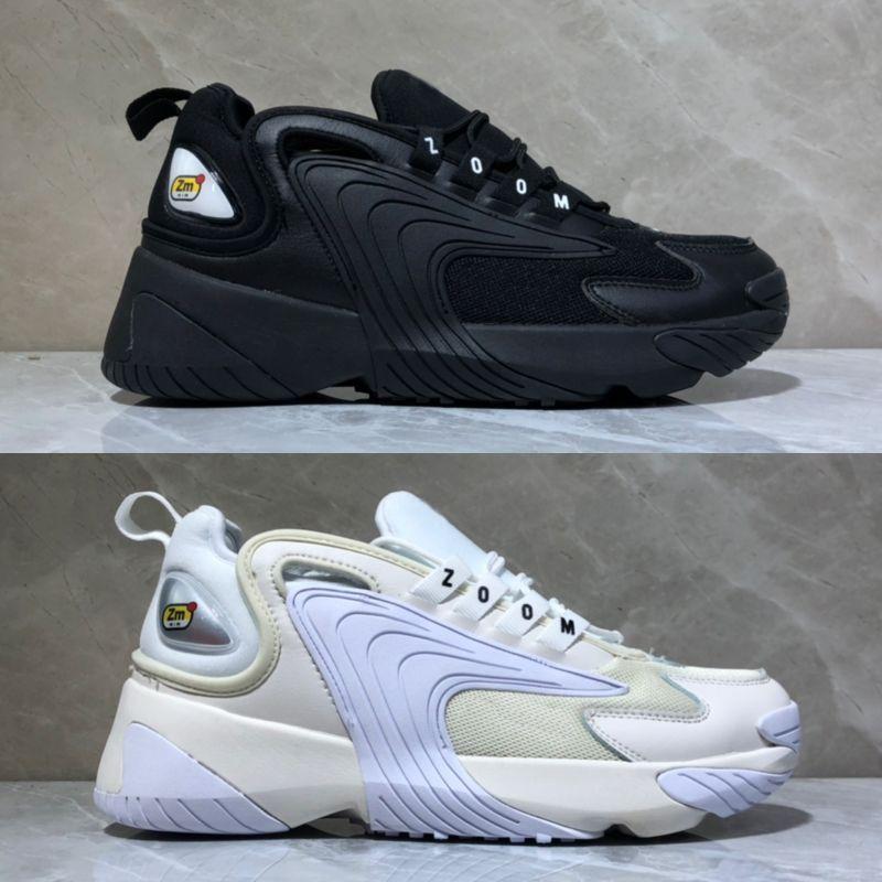 online store c06aa a8afd Acheter 2019 Nouveau Zoom 2K ZM 2000 Hommes Lifestyle Chaussures De Course  Triple Noir Blanc Bleu Orange Outdoor Trainer Designer Sneakers Box Size De  ...