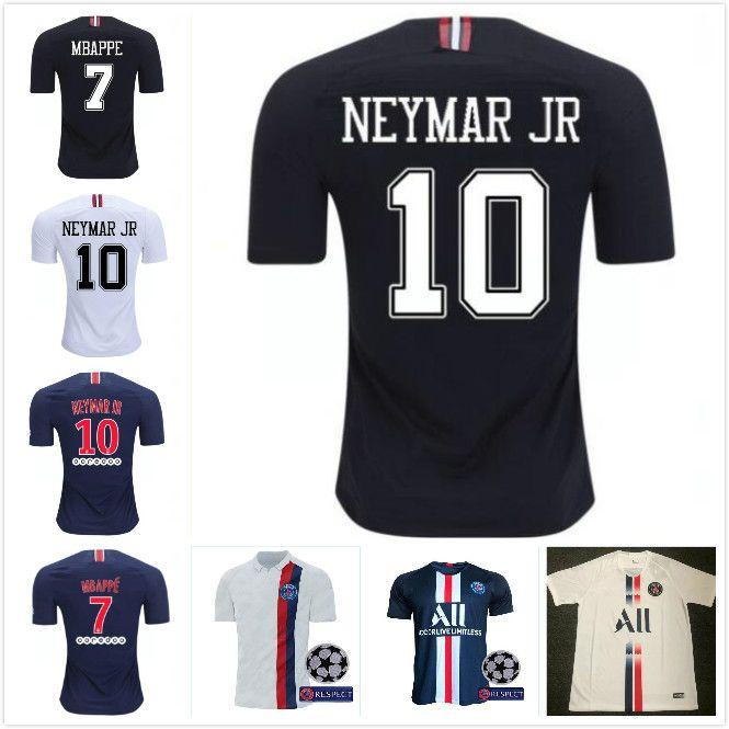 sale retailer 2372b 43369 2019 2020 Psg jersey 19 20 Champions League MBAPPE black white CAVANI  VERRATTI DI MARIA Soccer jerseys Paris maillot de foot shirt