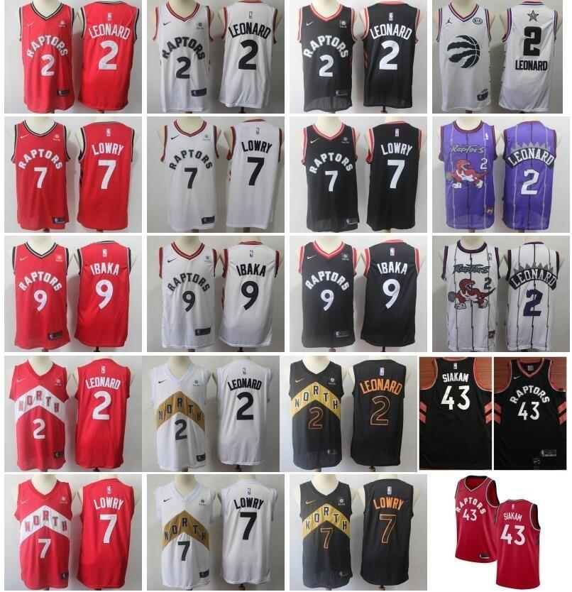 more photos cac34 bb306 Toronto Basketball Raptors Kawhi Leonard Jersey 2 City Earned Edition Kyle  Lowry 7 Serge Ibaka 9 Pascal Siakam 43 Red White Black