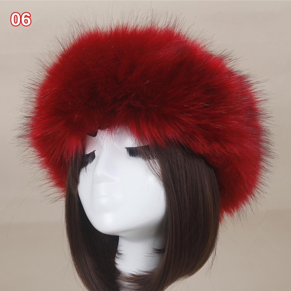 59afd5fe2bb Women Thick Fluffy Faux Fur Russian Cap Lady Head Hat Earwarmer ...