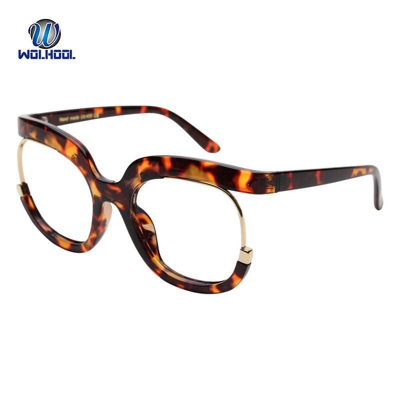 191b78e48e3 Vintage Oversized Round Fake Glasses Frame Women Men Clear Lens ...