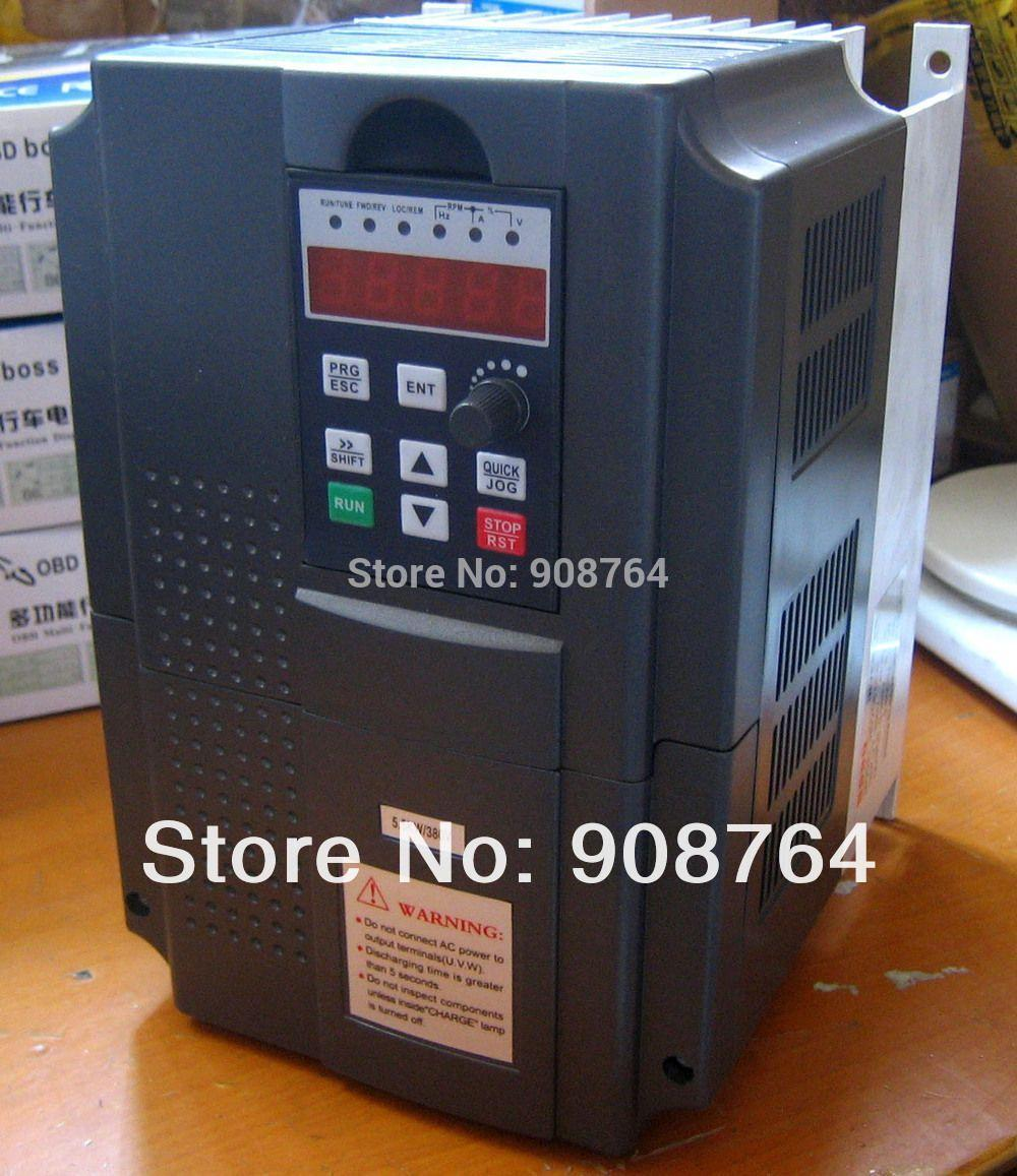 Freeshipping Vfd Inverter 5.5 Kw 380 V Vector Variable Frequency Drive Inverter Vfd 7.5 Hp Cnc Spindle Dhl